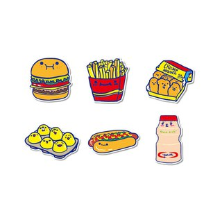 Waterproof stickers - good snacks