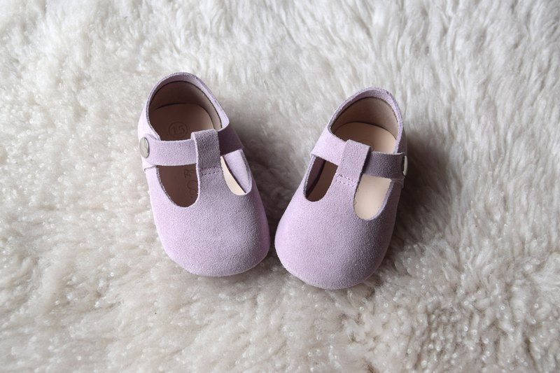 Lilac Baby Shoes, Baby Girl Shoes, Purple Baby Girl Mary Jane T Strap, Baby Mocc