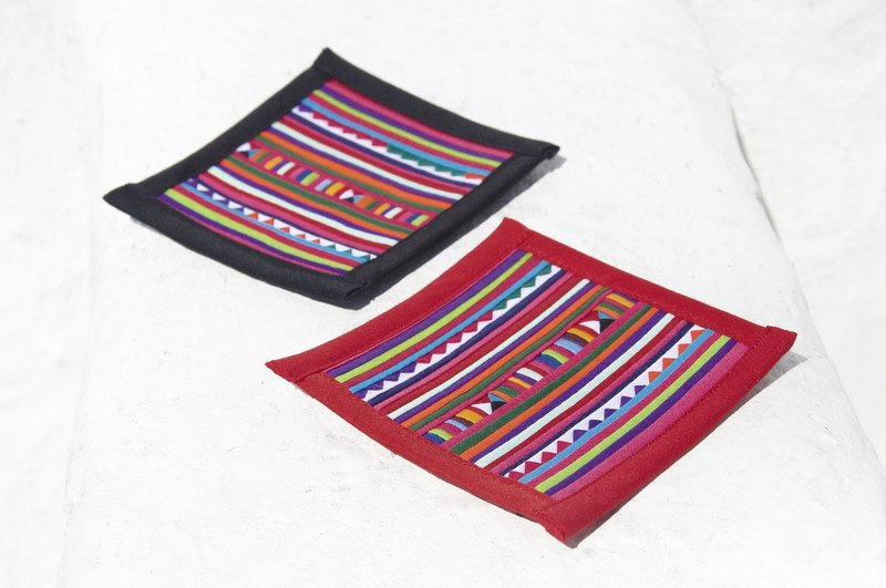 Christmas gift ideas gift exchange gift limited handmade design handmade cotton coasters / patchwork coasters / design coasters / rainbow coaster / color coasters - rainbow colored patchwork