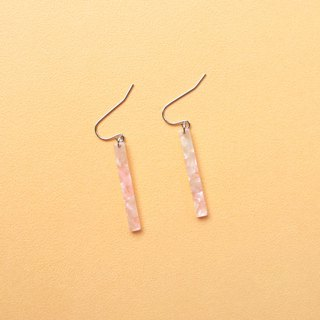 Minimalist columnar earrings _ Light pink clouds... Simple and stylish personality popular and elegant