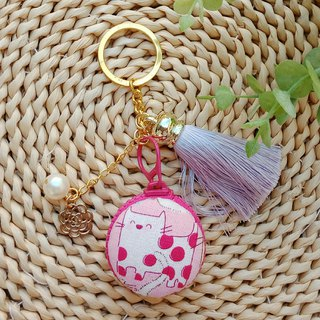 [Macarons Key Ring] Little Cat