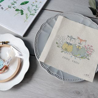 CHOU CHOU Dear illustration embroidery kit