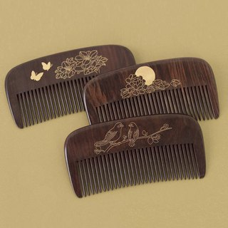 Weis 诗诗Combs Crafts Natural wood Comb Send Mother girlfriends Girlfriend Valentine Gift lettering