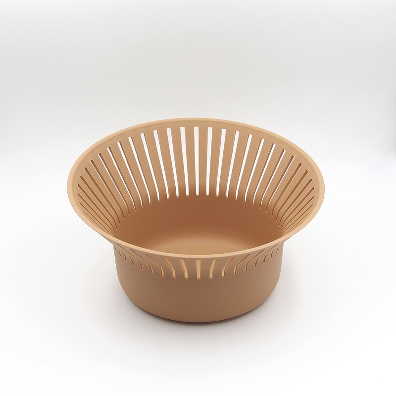 Ommo Ruff Bread Basket Terracotta