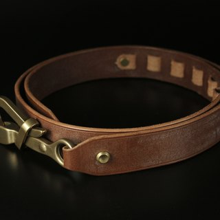 HEYOU Handmade - Sailor Belt sailor leather belt (thick coffee wax)