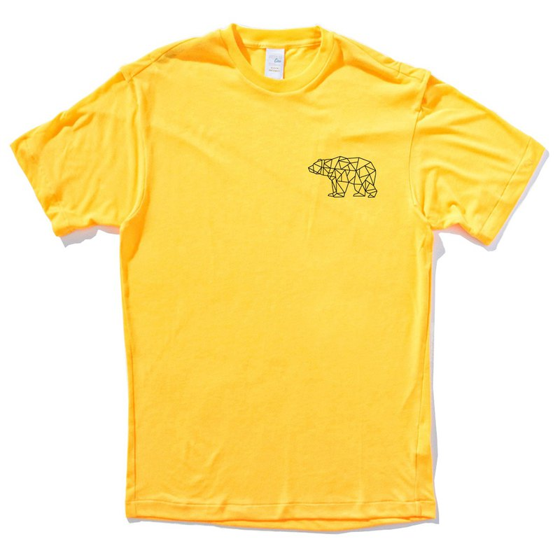 Pocket Bear Geometric yellow t shirt