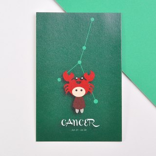 The 12 constellations character birthday card and postcard - Cancer