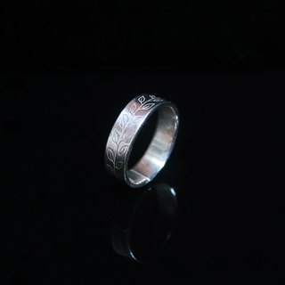 [Leaves] handmade silver ring. Commemorative ring. Valentine's Ring