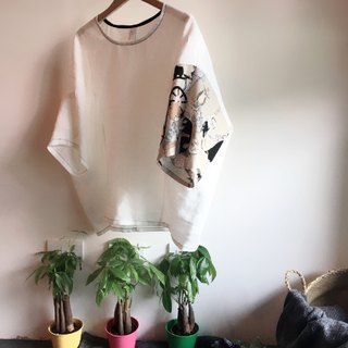 White linen summer top