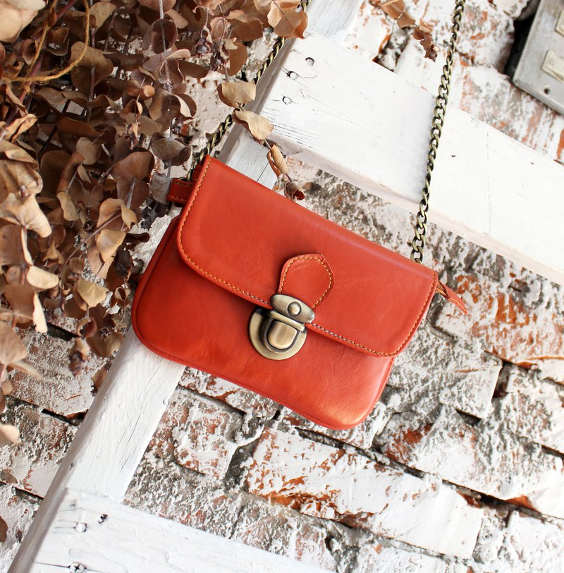 Leather bag with Christmas Packages