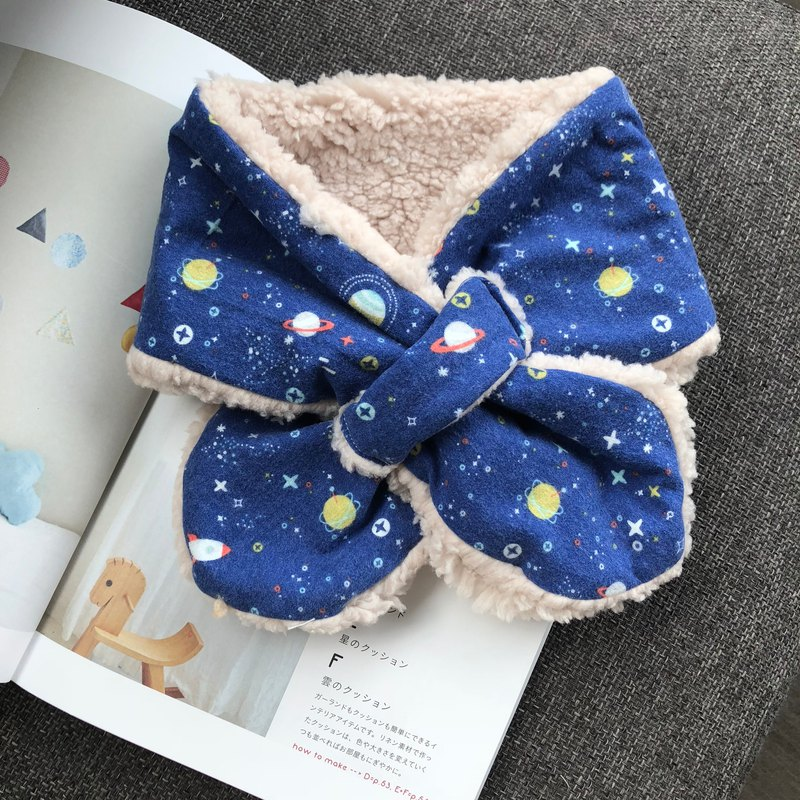 Rocket Planet Handmade Warm Baby Scarf Necklet Moon Gift Box