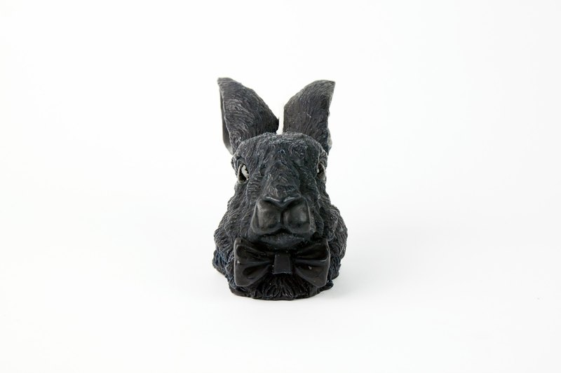 Irish Hare head candle - black
