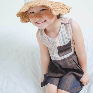 Temperament exposed small dress hand made non-toxic children's clothing fabric optional size negotiable