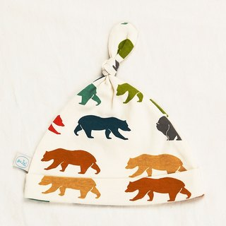 Gujui Love Bear (Color) - Organic Cotton Hat