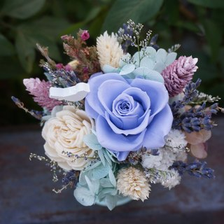 My Little Garden Double Flower Gift Combination Pink Blue Dry Flowers Not Withered Flowers Valentines Christmas
