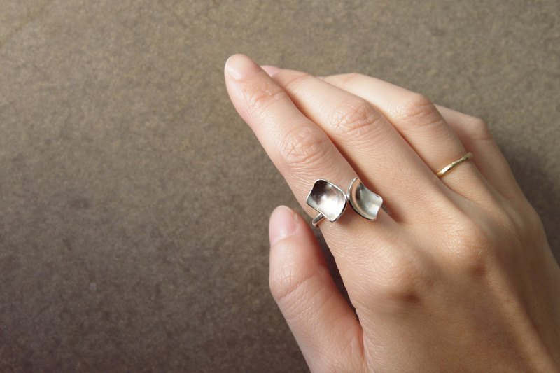 Native series sterling silver ring