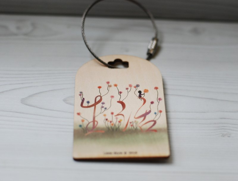 [Luggage tag] lush bloom
