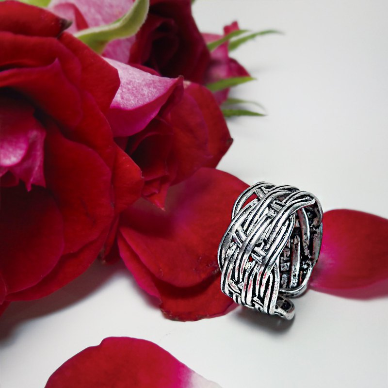 Buckwheat Noodles 925 Sterling Silver Ring
