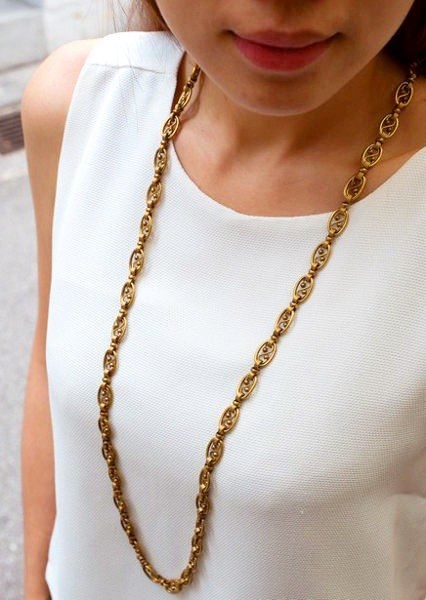 Personality models long necklace handmade brass
