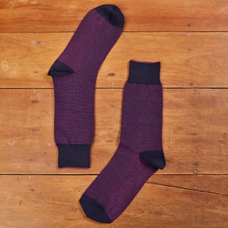 Fruit good birds eye pattern gentleman socks grape purple