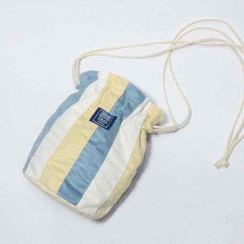 :: :: Bangs tree dorsal bucket bag _ lotus blue and light yellow