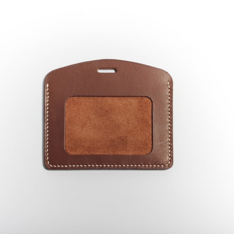 Egawa [Hands] documents folder, travel card sets (horizontal red coffee color) pure hand-stitched leather