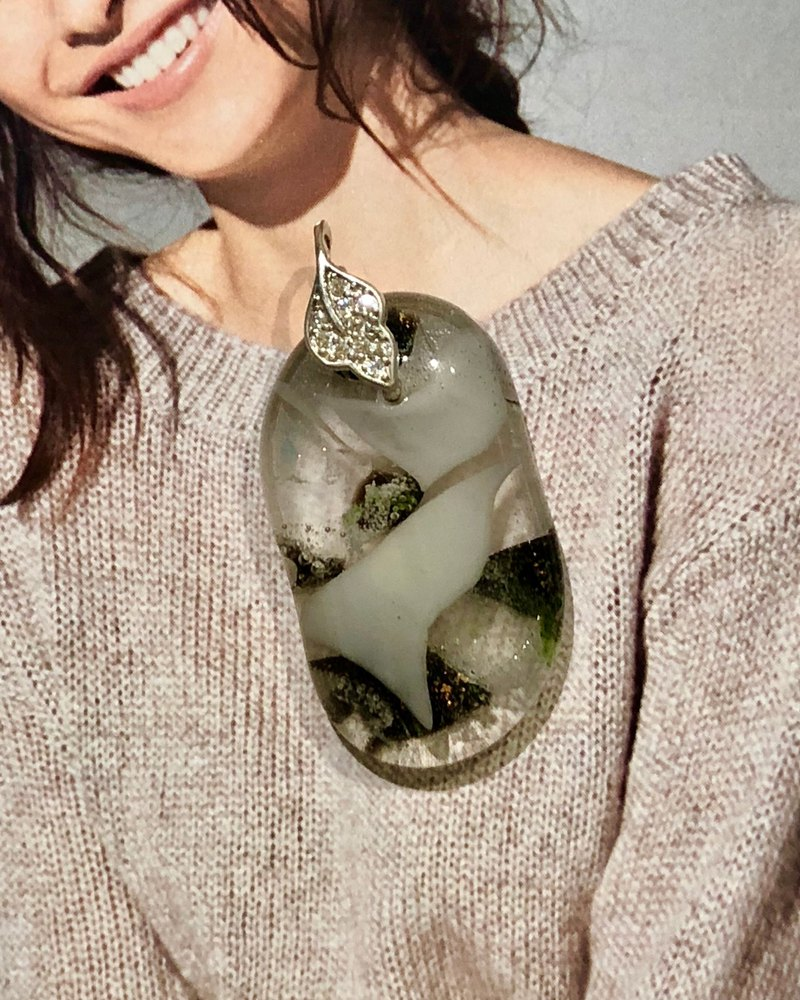 [All good decoration] handmade glass necklace-10