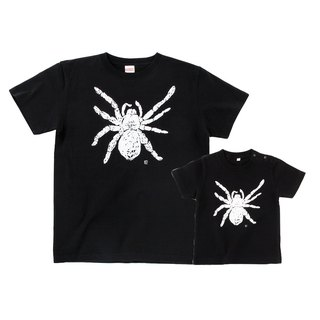 蜘蛛 spider Tarantula family t-shirt dad son 2set Men Baby Kids Black Black
