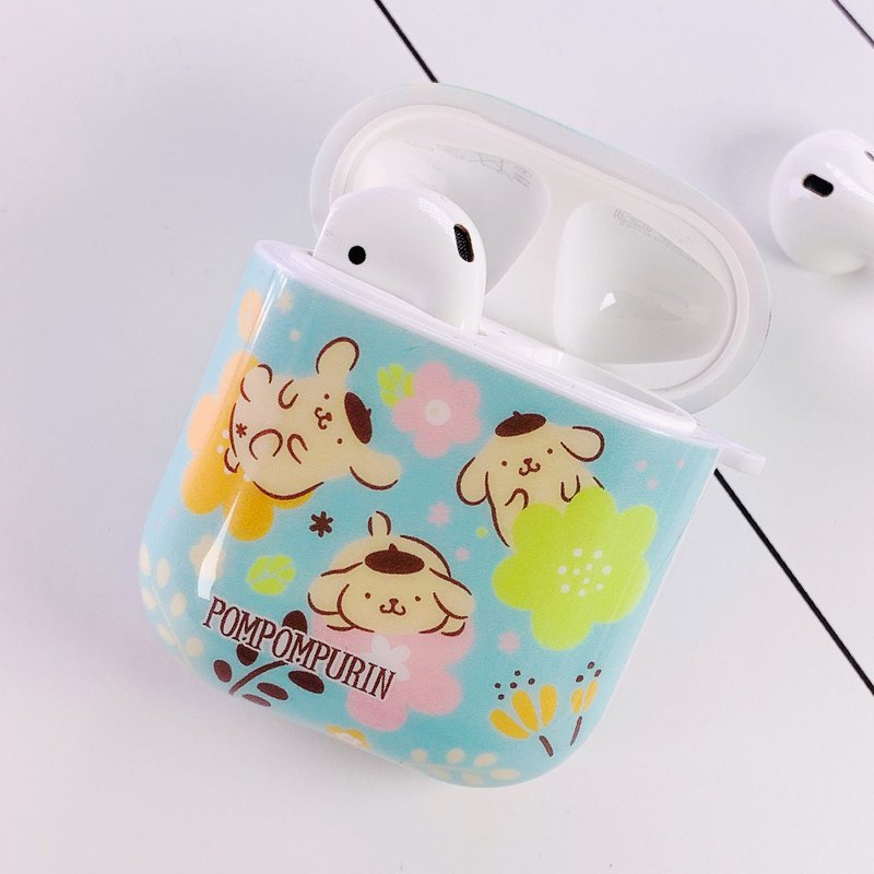 Pompompurin Airpods casing Flower