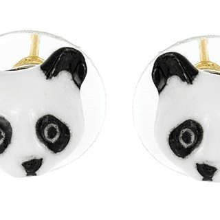 Porcelain panda head earrings Christmas gifts