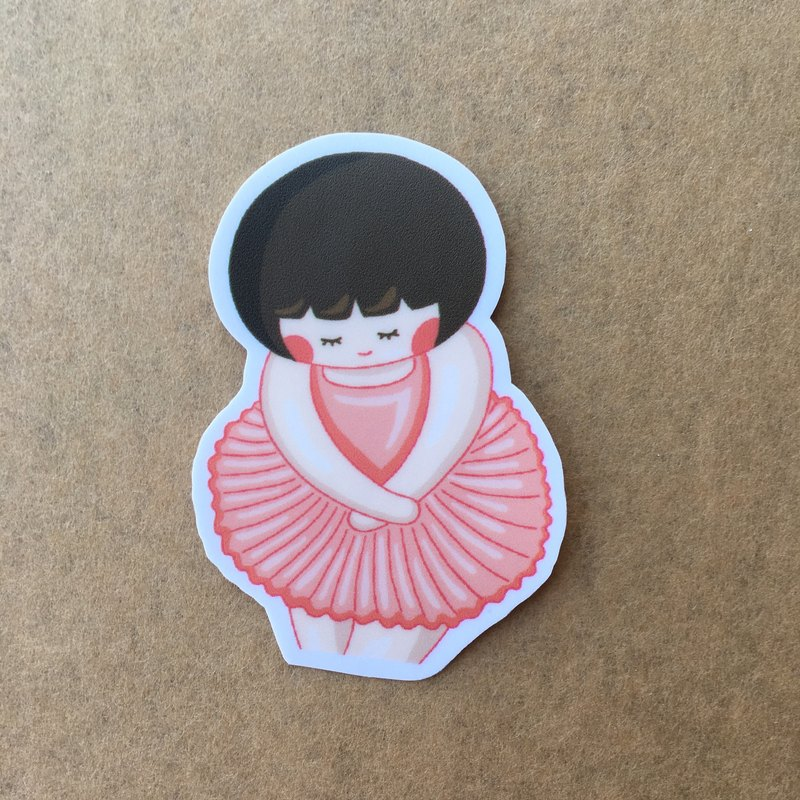 Chestnut sister series small waterproof sticker SS0042