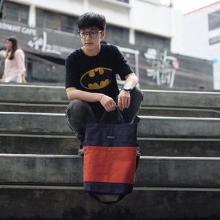 Messenger bag (Navy-Brick)