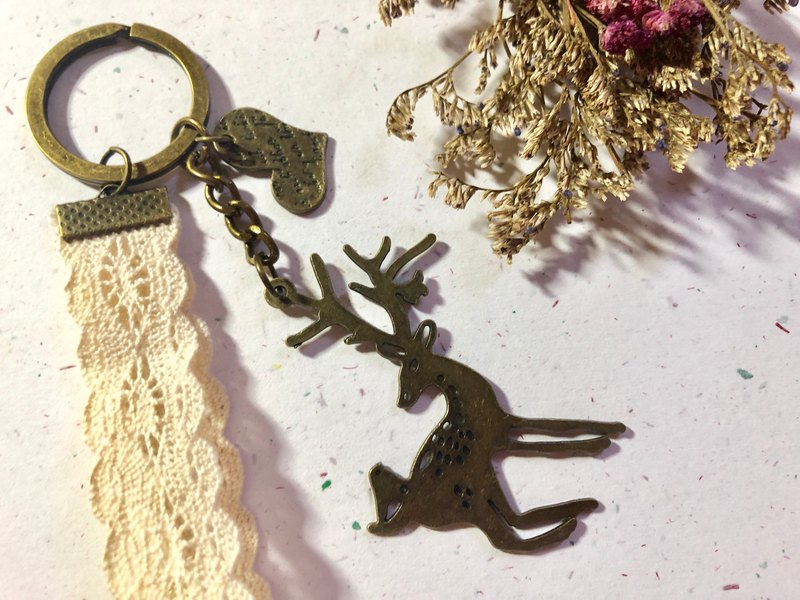 [exclusive custom] deer chaos bronze charm / couple / Valentine's Day gift / decorative key ring