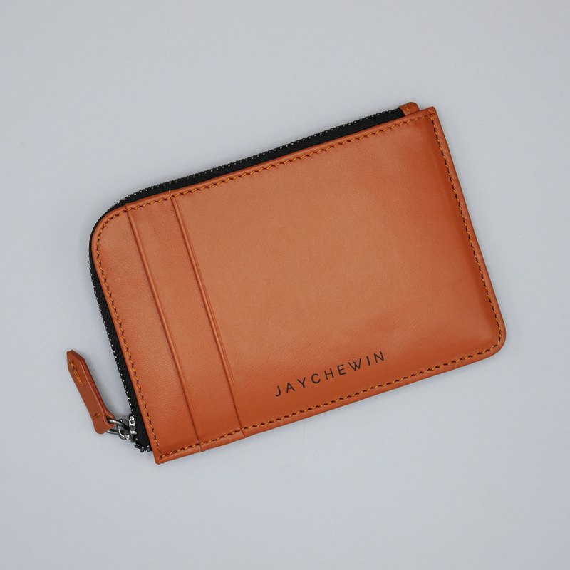 Flat Wallet in Cinnamon Nappa Leather