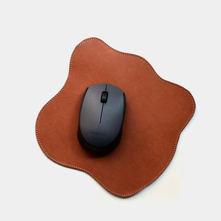 [Fingertips] leather mouse pad leather pad lettering as a gift