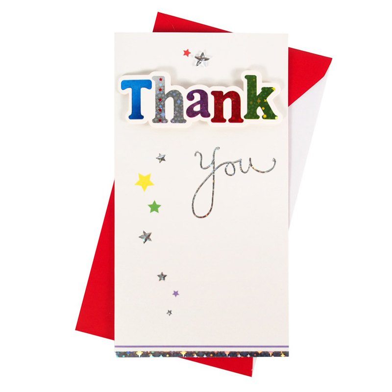 Colored thank you [Hallmark-card unlimited thanks]