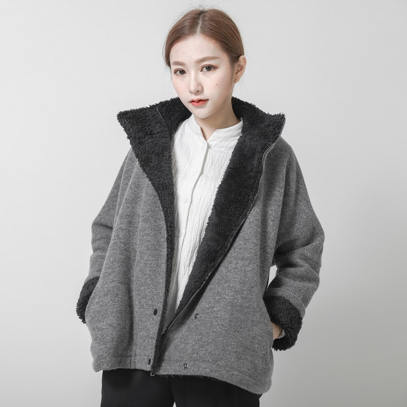 SU: MI said Hunter Hunter Fluff Jacket _6AF206_ Gray