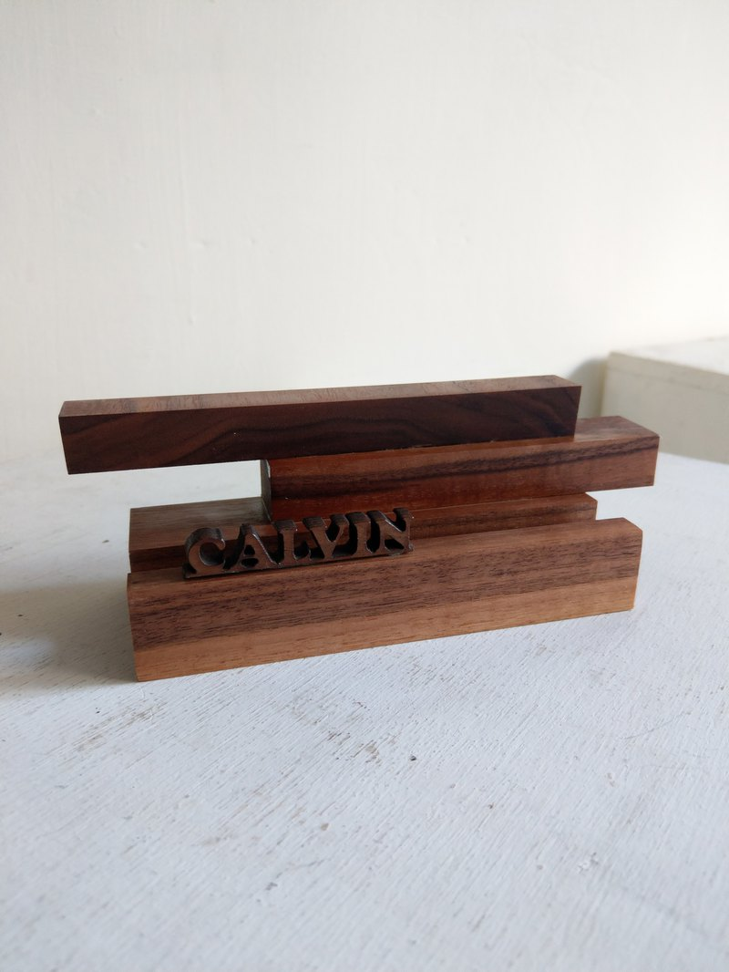 CL Studio [modern minimalism - geometric style wooden phone holder / business card holder] N157