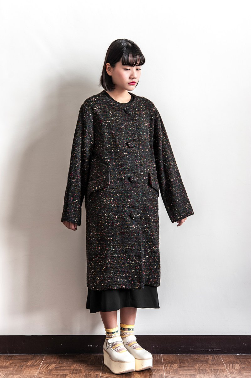 Vintage lovely colored dots vintage coat