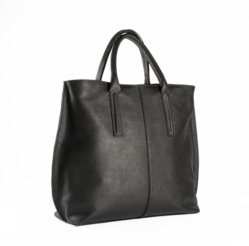 ITA BOTTEGA [Made in Italy] black leather shoulder bag