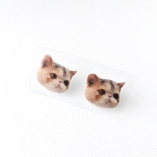 House of Cats Jojo Exotic Cat Handmade Stud Earrings