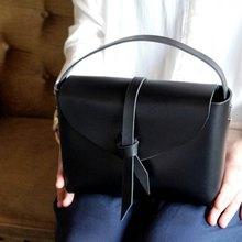 2way leather box bag /  2way レザーボックスバッグ #黒色