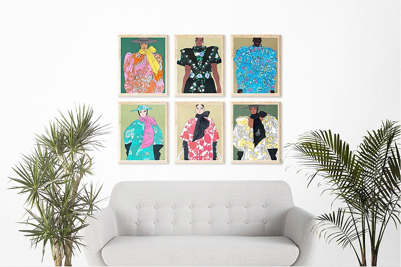Art Print Poster Ping Hatta - Erdem Set of 6