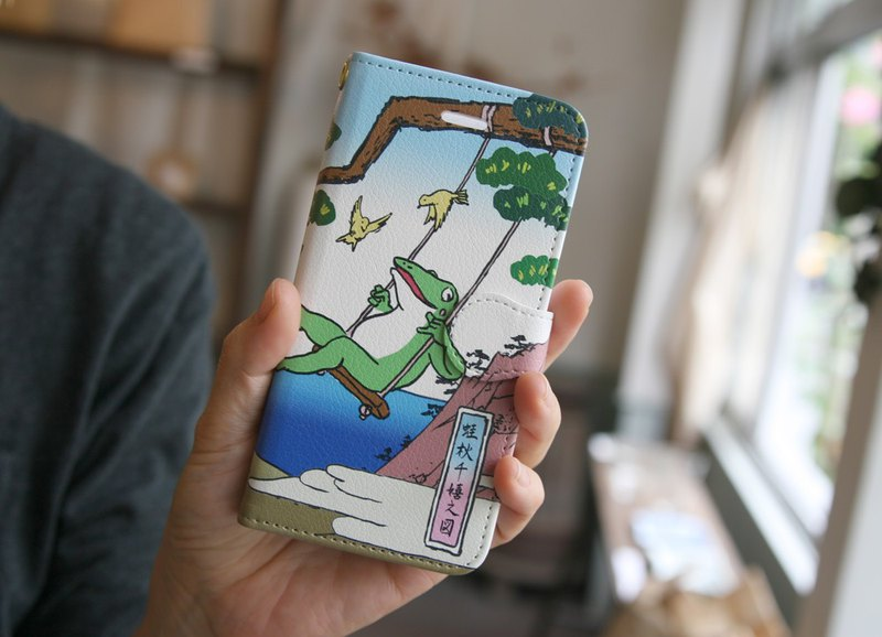 iPhone cover · notebook type Ukiyo-e picture frog