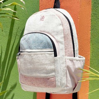 Valentine's Day gift limited to a cotton and linen stitching design after the backpack / shoulder bag / national mountaineering bag / puzzle package / linen backpack / travel bag - romantic forest grassland original color
