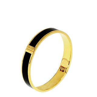 Solid color black cloisonne enamel series solid color bracelet (gold) -11000159001