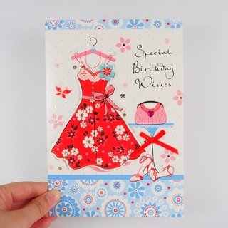 I give all the best wishes Fu handmade cards [FS]