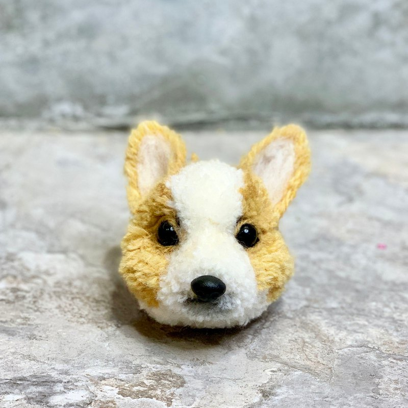 Corgi dog key ring