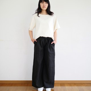 Ethical Hemp Wide Pants Ebony Dyed Black  Size S
