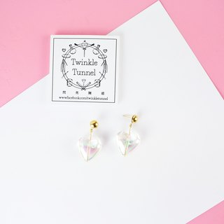Transparent Rainbow Love Earrings